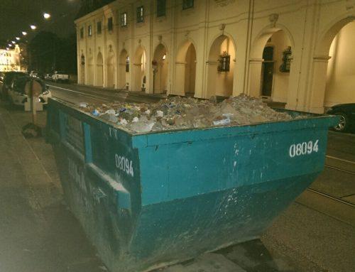 Може ли контейнер за отпадъци да се сложи на улицата?