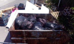 Изхвърляне на контейнер за отпадъци