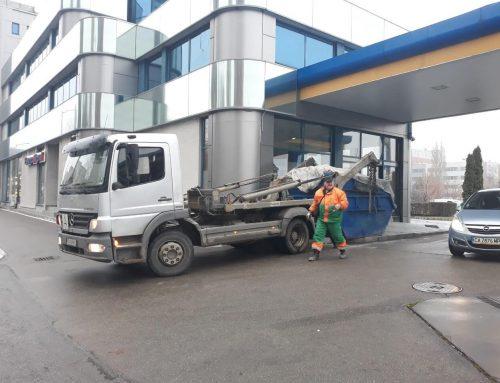 Извозване на боклук със самосвали, превоз на неметални материали