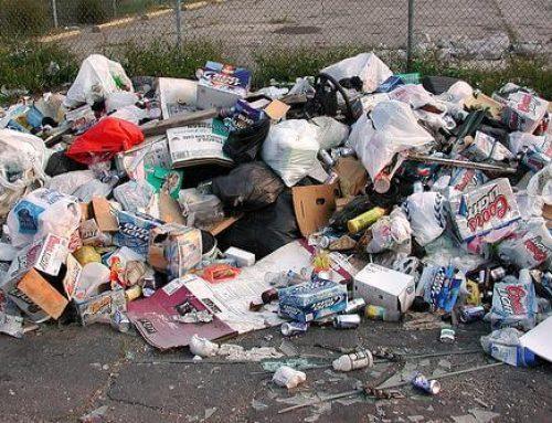 Извозване на боклука от магазина