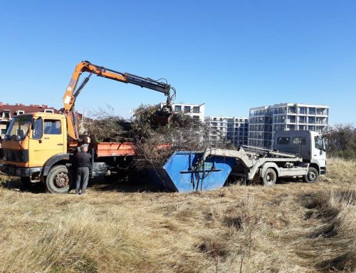 Почистване и извозване на растителни отпадъци в град София