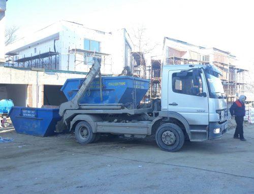 Извозване на боклука от производството